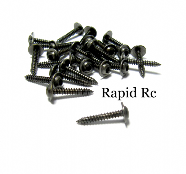 Kuza Socket Head W/shoulder  Servo Mounting Screws 3mm x 18mm Black